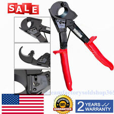 Heavy Duty Ratchet Cable Cutter Copper/Aluminum Wire W/ One Hand Tool Awg 600Mcm