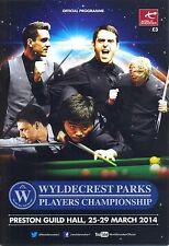 Snooker/Pool/Billiards Memorabilia Programmes