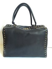AUTHENTIC MARNI BLACK LEATHER GOLD STUD EXTRA LARGE HANDBAG