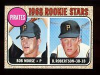 1968 Topps Baseball #36 Bob Roberston / Bob Moose Pirates Rookies - SBID006