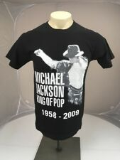 EUC Michael Jackson KING OF POP Blk Wht Memorial souvenir pop atrtist tshirt SM