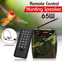 65W Professional Wireless Camouflage Hunting Speaker Bird Caller+Remote Control