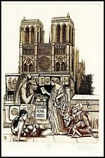 Zoltan Ven C3 Exlibris Bookplate Notre Dame Gargoyle Chimera Devil Teufel Demon