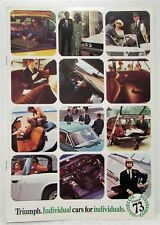 1973 Triumph Cars for Individuals Sales Folder - UK Market