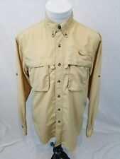 L.L.Bean BUZZ OFF Insect Shield L/S Nylon Vented Fishing Outdoor Shirt Men Small