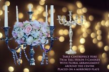 75cm Tall Candelabra With Floral Centre Table Centrepiece For Hire (North West)