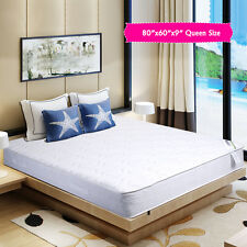 """9"""" inch Independently Encased Coil Bed Pocket Spring Foam Mattress Queen White"""