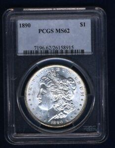 U.S. 1890  MORGAN SILVER DOLLAR BRILLIANT UNCIRCULATED PCGS CERTIFIED MS62
