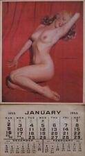 "Marilyn Monroe 1955 Pinup Calendar Golden Dreams 12x22"" Sellers Claiming Vintage"