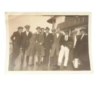 1920's Napa Valley River Boat Tour Handsome Well Dressed Men Group Photo