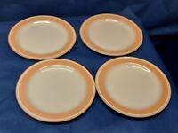 "Vintage Sangostone ""ENCHANTMENT PEACH"" Set/4 Dessert/Salad Plates"