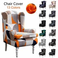 Armrest Wing King Back Sloping Chair Cover For Wedding Banquet Hotel Dining Home