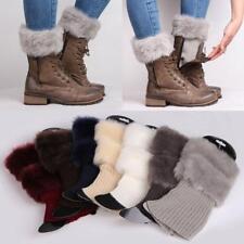 Womens Cuffs Toppers Boot Knit Socks Crochet Trim Leg Warmers Warm  HY