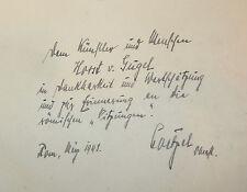 Dussler: Sebastiano del Piombo 1942 Basel in tedesco con dedica autografa autore