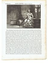 "1825 Incisione: Santa Eufemia ""Sainte Euphémie, Vierge et Martyre"""