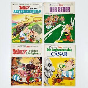 ©Delta Verlag 4x ASTERIX dt. Z4 Arvernerschild/Belgiern/Seher/Lorbeeren/Cäsar
