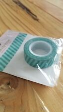 "Queen & Co Washi Trendy Tape! ""Teal Solid Diagonal Stripe"" 10 yards each roll!"