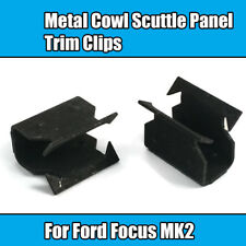 6x Metal Clamps For Ford Focus MK2 Cowl Scuttle Panel Trim Clips Black Metal