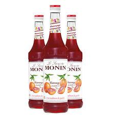 Monin Sirup Blutorange, 0,7L, 3er Pack