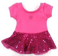 Doll Clothes Dollie & Me Hot Pink Sequin Leotard Dress