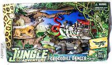 Chap Mei Jungle Adventure Crocodile Danger Playset Action Leopard Chimp Figure