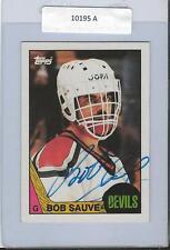 Bob Sauve 1987 Topps Autograph #140 Blackhawks