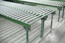 "Roller Conveyor - Steel Frame - 24""W on 3"" centers"
