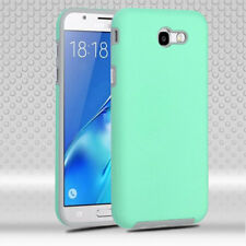 Samsung Galaxy J7 Sky Pro Rubberized Anti-Slip Hybrid Silicone Cover Teal