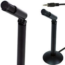 3,5 Mm Mini Micrófono Estéreo-pc/mac/laptop Aux-teléfono compacto Grabar Audio Base