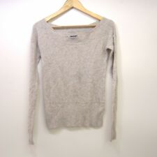 New American Eagle AEO Womens Beige Wool Knit Boatneck Sweater Sz Extra Small XS