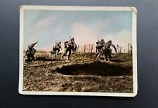 WWI German Cigarette Cards Der Weltkrieg Privat #132 Germans Western Frnt 1917