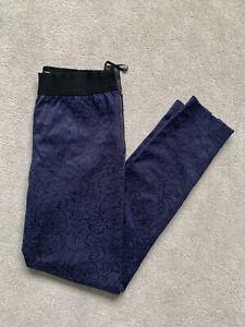 Coast Navy Brocade Slim Trousers UK 10
