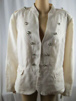 Women's Jacket INC International Concepts Linen Military Style Jacket Size 1X
