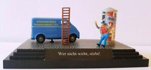 """Busch 7625 Spur HO 1:87 Kleindiorama """"Wer nicht wirbt, stirbt..""""  #NEU in OVP#"""