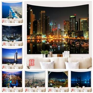 City Building Scenery Tapestry Wall Hanging Tapestries Living Room Background