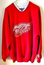 Vintage Starter NHL Detroit Red Wings Crewneck Sweatshirt Size Large Red