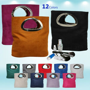 New Fashion Womens Faux Leather Tote Bag Evening Party Prom Bride Handbags Purse