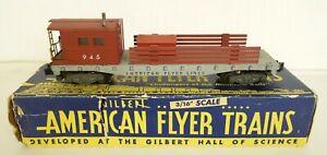 AMERICAN FLYER #945 POSTWAR WORK CABOOSE W/ORIGINAL SIDES-EX. IN ORIG. BOX!