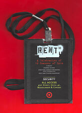 "Jonathan Larson ""RENT"" Idina Menzel / Taye Diggs / 10th Anniversary Staff Badge"