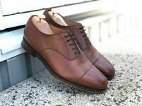 Chaussures habillées en cuir véritable marron Oxford pour hommes