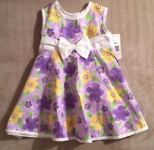 NWT RARE, TOO by Rare Editions Baby Girls Dress Purple Yellow SPRING 18 Mos NEW