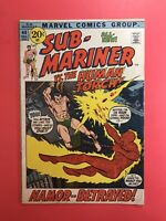 SUB-MARINER #44 and the HUMAN TORCH! Namor..Betrayed! Marvel 1971