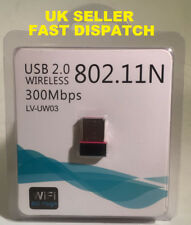 New Mini USB WiFi Dongle 300MBPS BGN Wireless Adapter INCLUDES 100 WIFI ADAPTERS