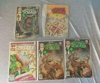 5 Comic Lot Creepy Things 1975 #2, 3, 5, 5  Chilling Adventures in Sorcery #4