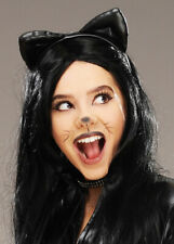 Catwoman Style Black Cat Ears on Headband