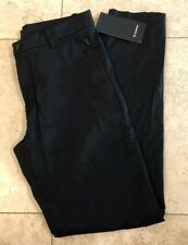 "NWT Men's Lululemon Size 32 Commission Pant Classic 34"" Length Black Chino BLK"