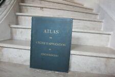 Atlas de L'école d'application de fontainebleau, 1876. (28 cartes)