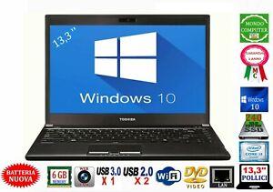 PC PORTATILE TOSHIBA R830 INTEL CORE i 3 2310M WEBCAM 240 SSD WINDOWS 10_13,3 ''