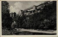 Wildberg im Schwarzwald alte Ansichtskarte 1941 Teilansicht mit Fluss Nagold