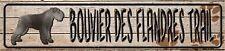 Bouvier Des Flandres Trail Novelty Metal Mini Street Sign Wall Decor, Yard Sign